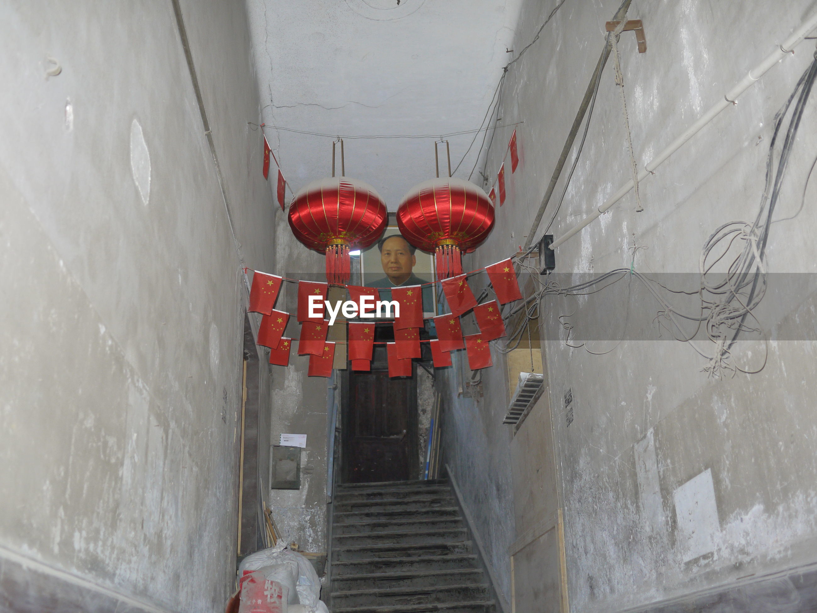 red, architecture, lighting equipment, hanging, lantern, built structure, chinese lantern, no people, day, indoors