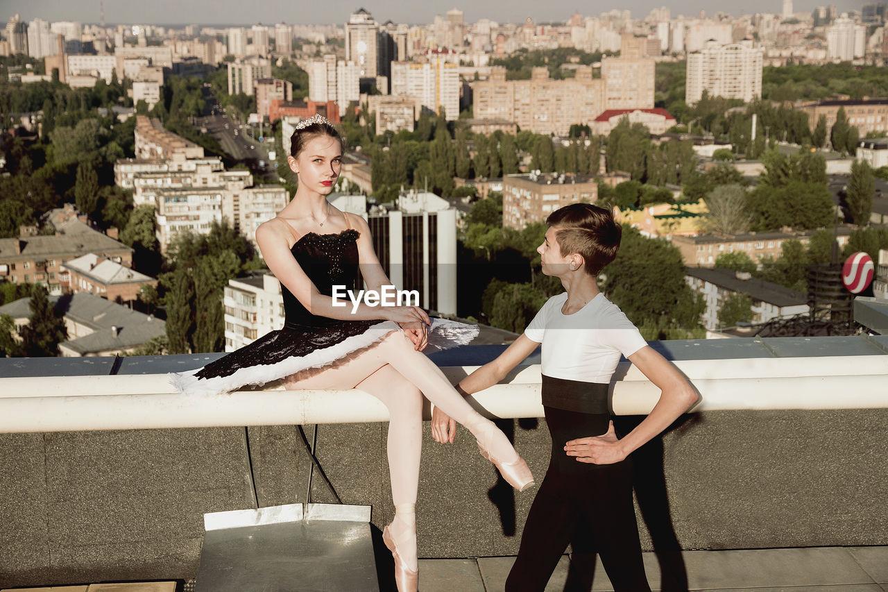 Full Length Of Ballet Dancer
