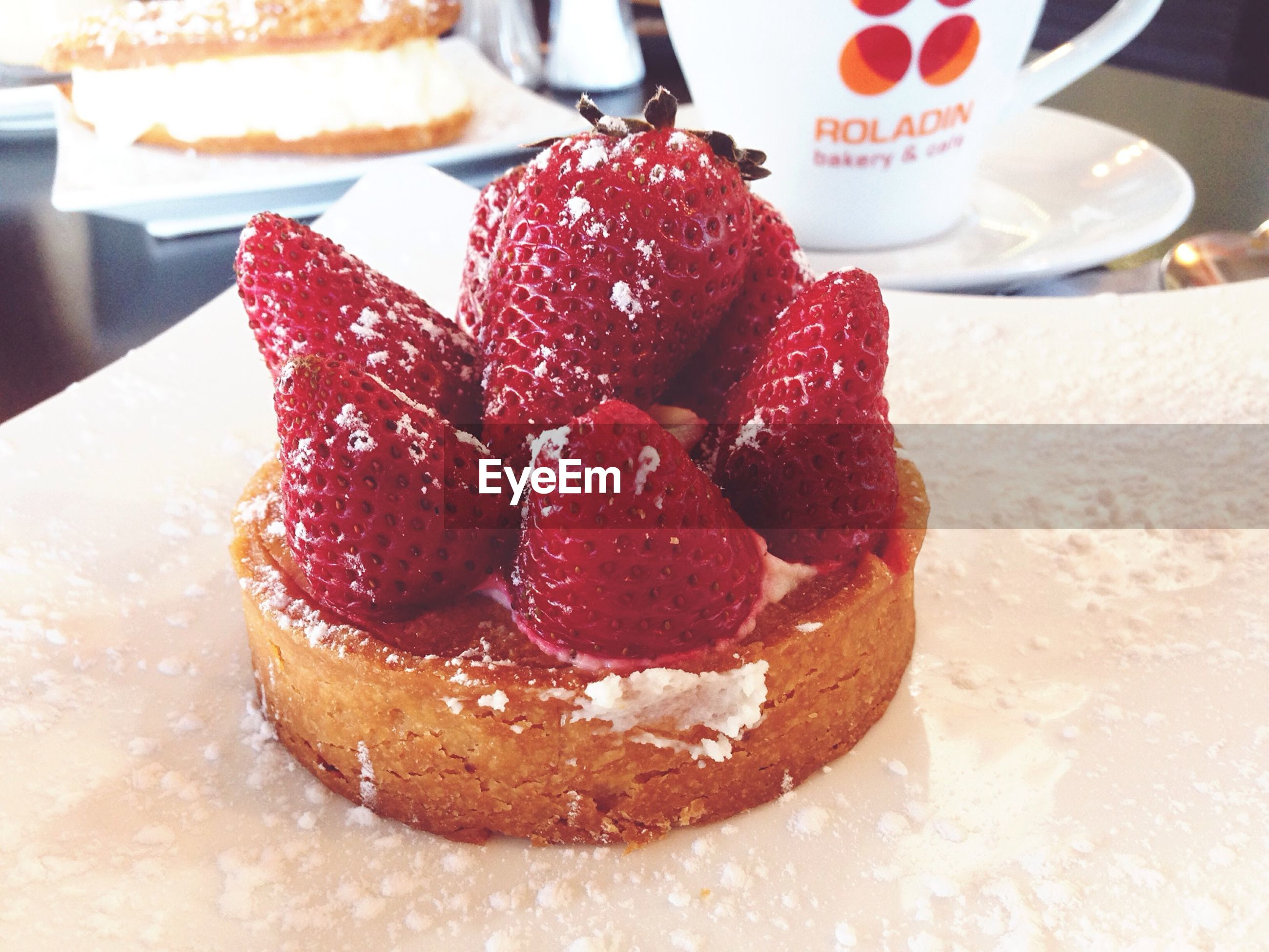 food and drink, sweet food, food, freshness, dessert, indoors, indulgence, ready-to-eat, unhealthy eating, still life, cake, strawberry, temptation, close-up, fruit, table, cream, plate, chocolate, raspberry
