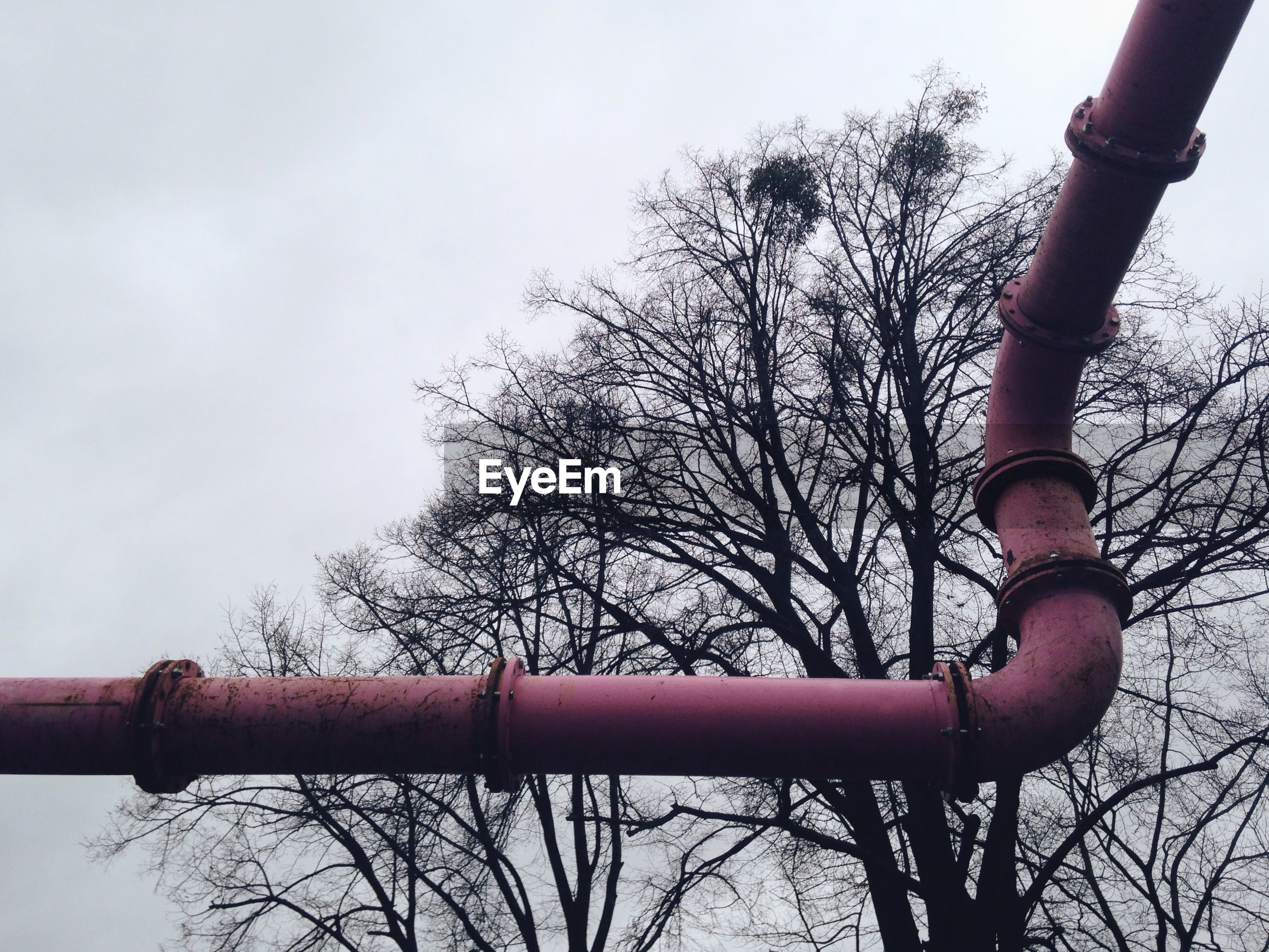 Low angle view of pipe