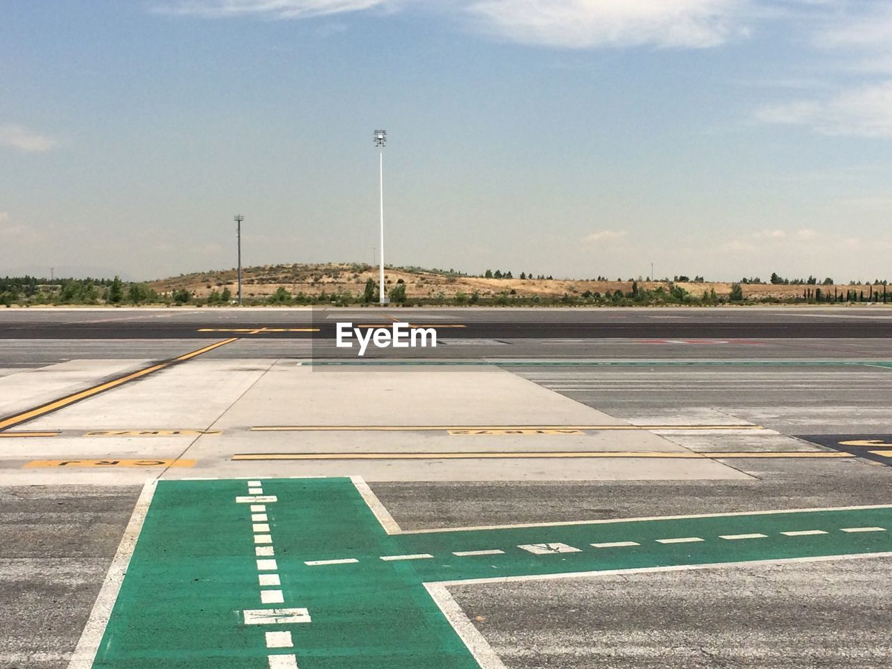Empty Airfield Against Sky