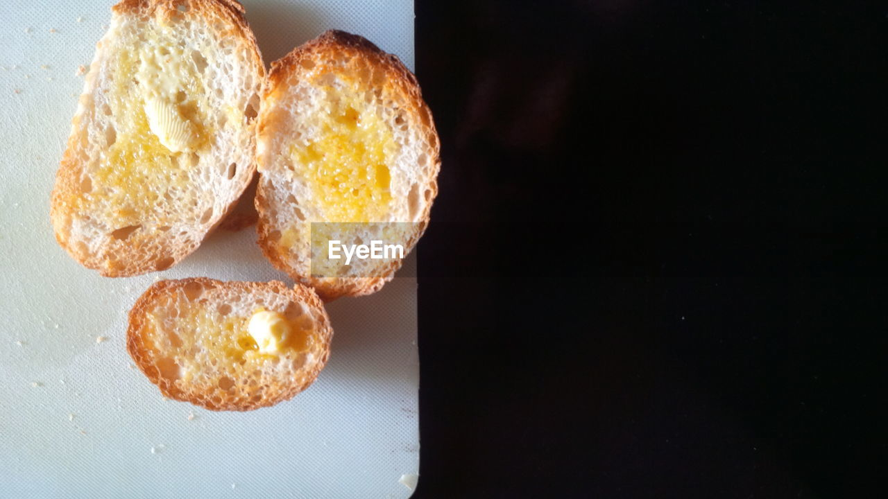 Butter Melting On Bread