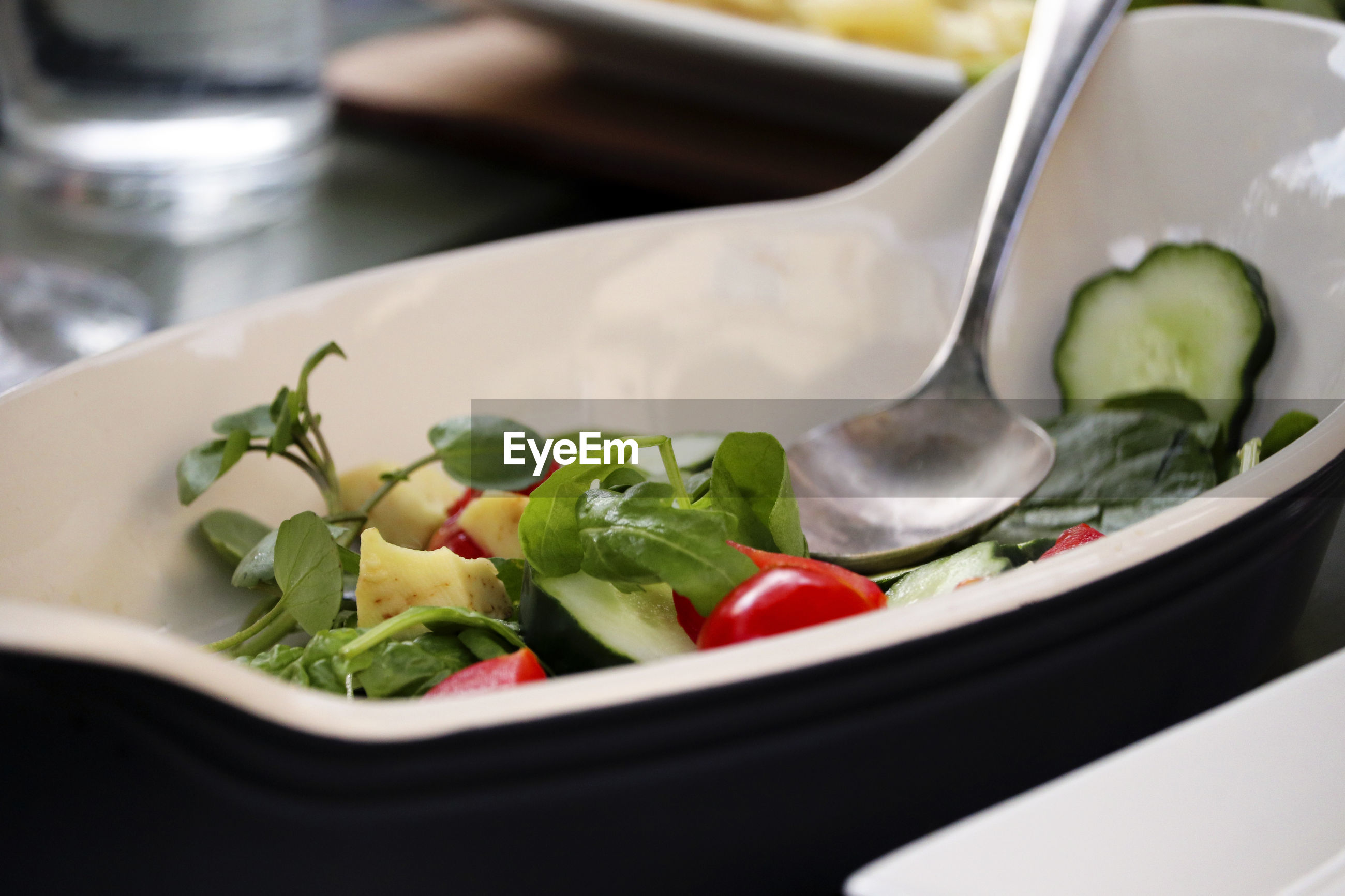 CLOSE-UP OF SALAD IN CONTAINER