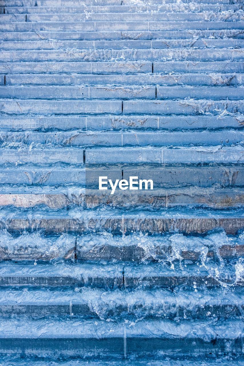 Full Fame Shot Of Water On Steps