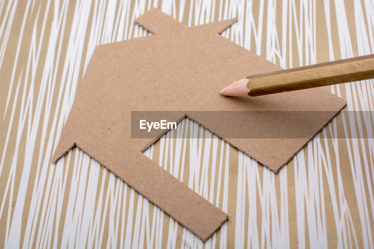 Close-up of paper craft on table