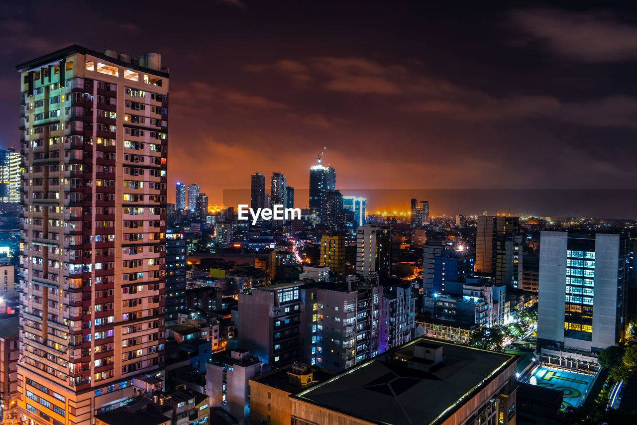 building exterior, built structure, architecture, sky, building, city, cloud - sky, cityscape, illuminated, tall - high, urban skyline, modern, no people, office building exterior, nature, skyscraper, residential district, landscape, night, city life, outdoors, financial district, apartment, settlement