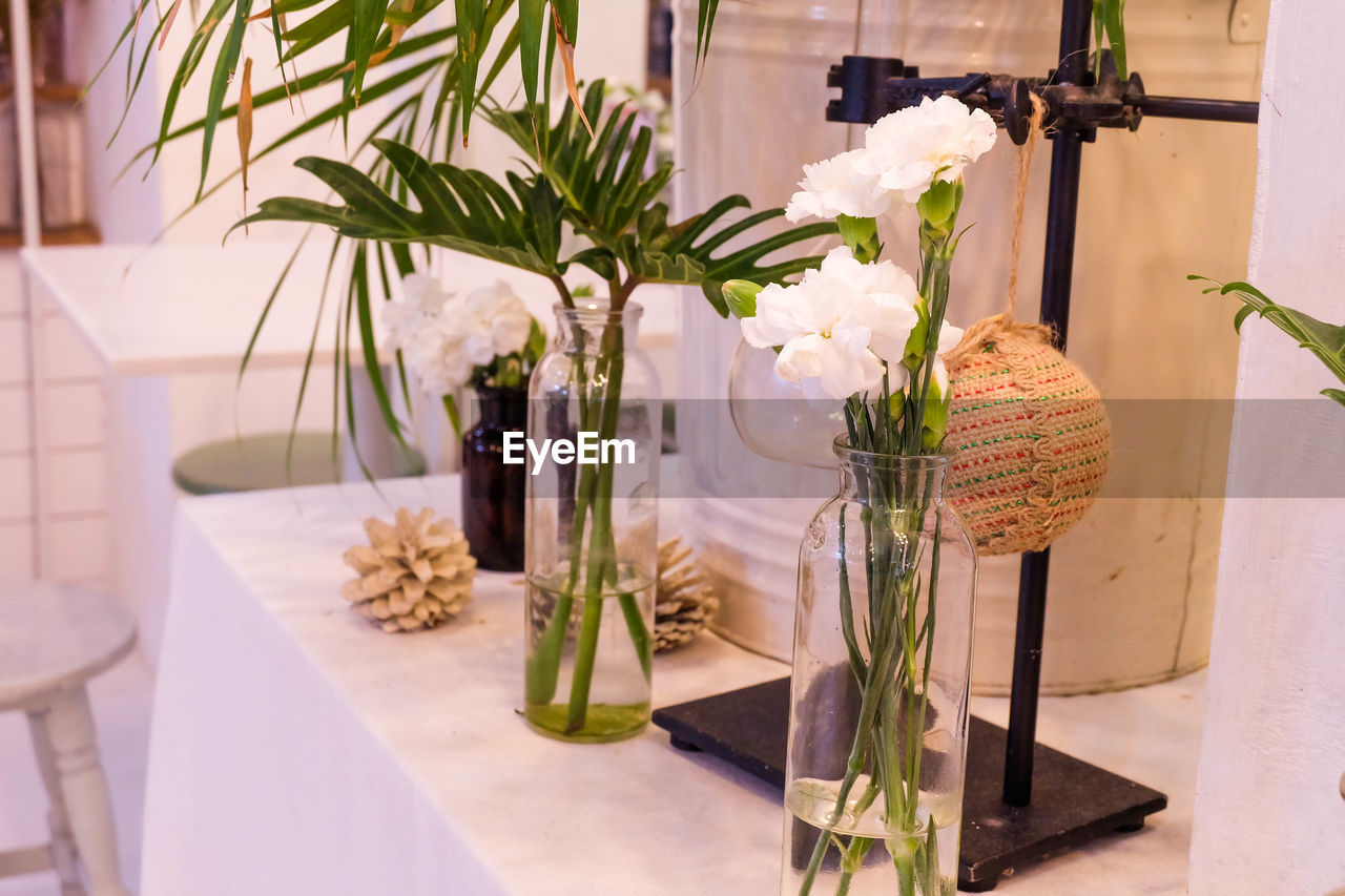 plant, flower, flowering plant, nature, vase, decoration, growth, no people, indoors, vulnerability, fragility, potted plant, beauty in nature, table, glass - material, home interior, freshness, focus on foreground, leaf, flower head, flower arrangement, houseplant