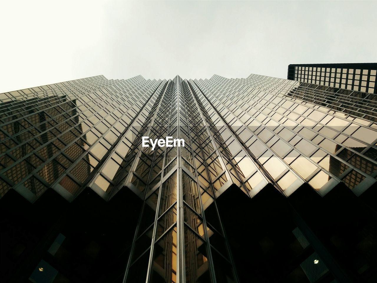 Exterior of modern building against sky