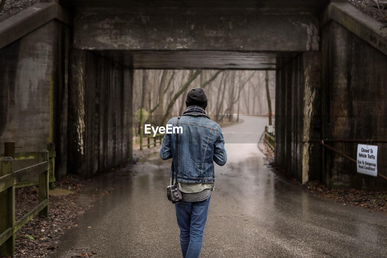 Rear View Of Man Walking