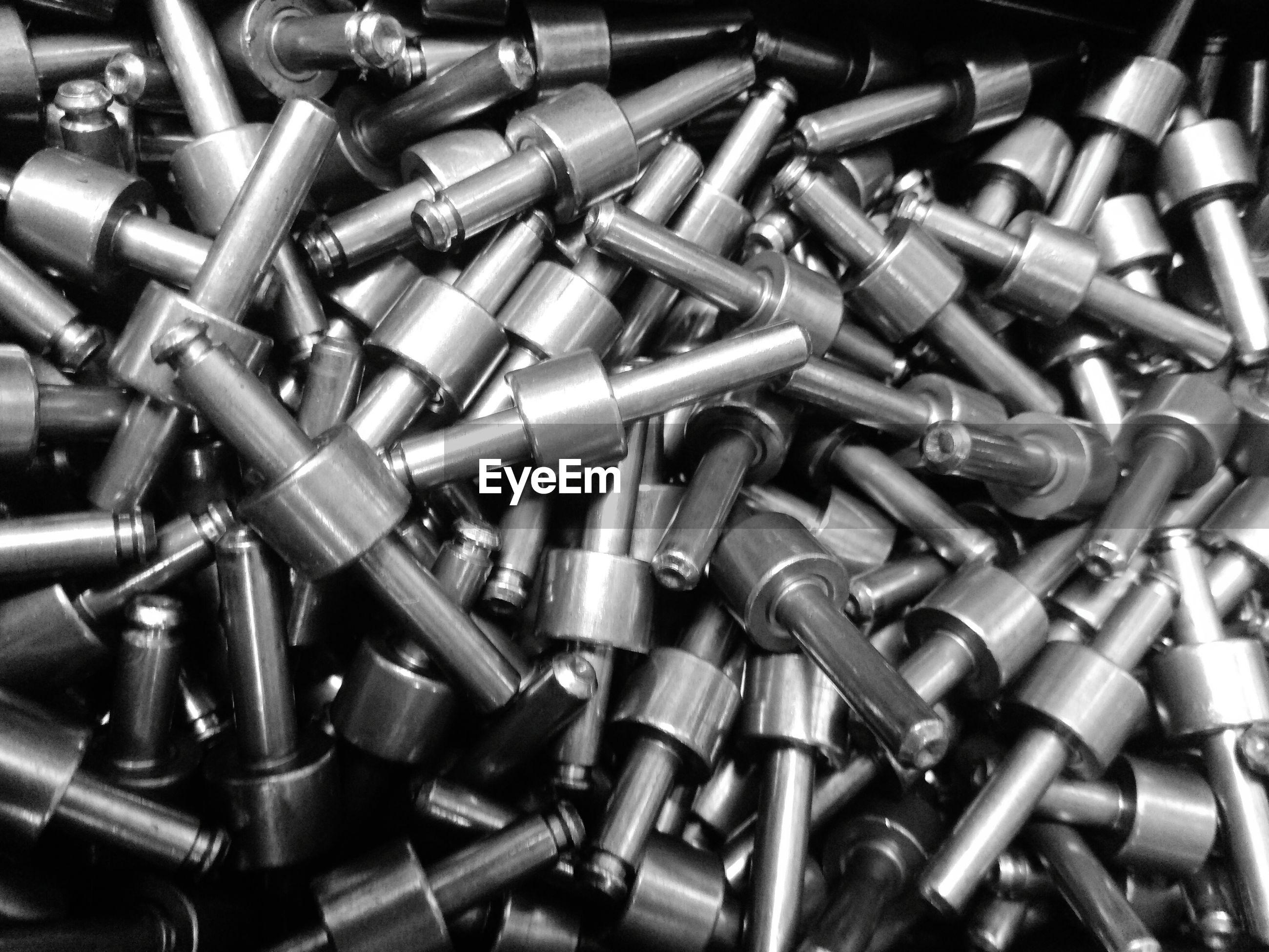 Full frame shot of metal equipment