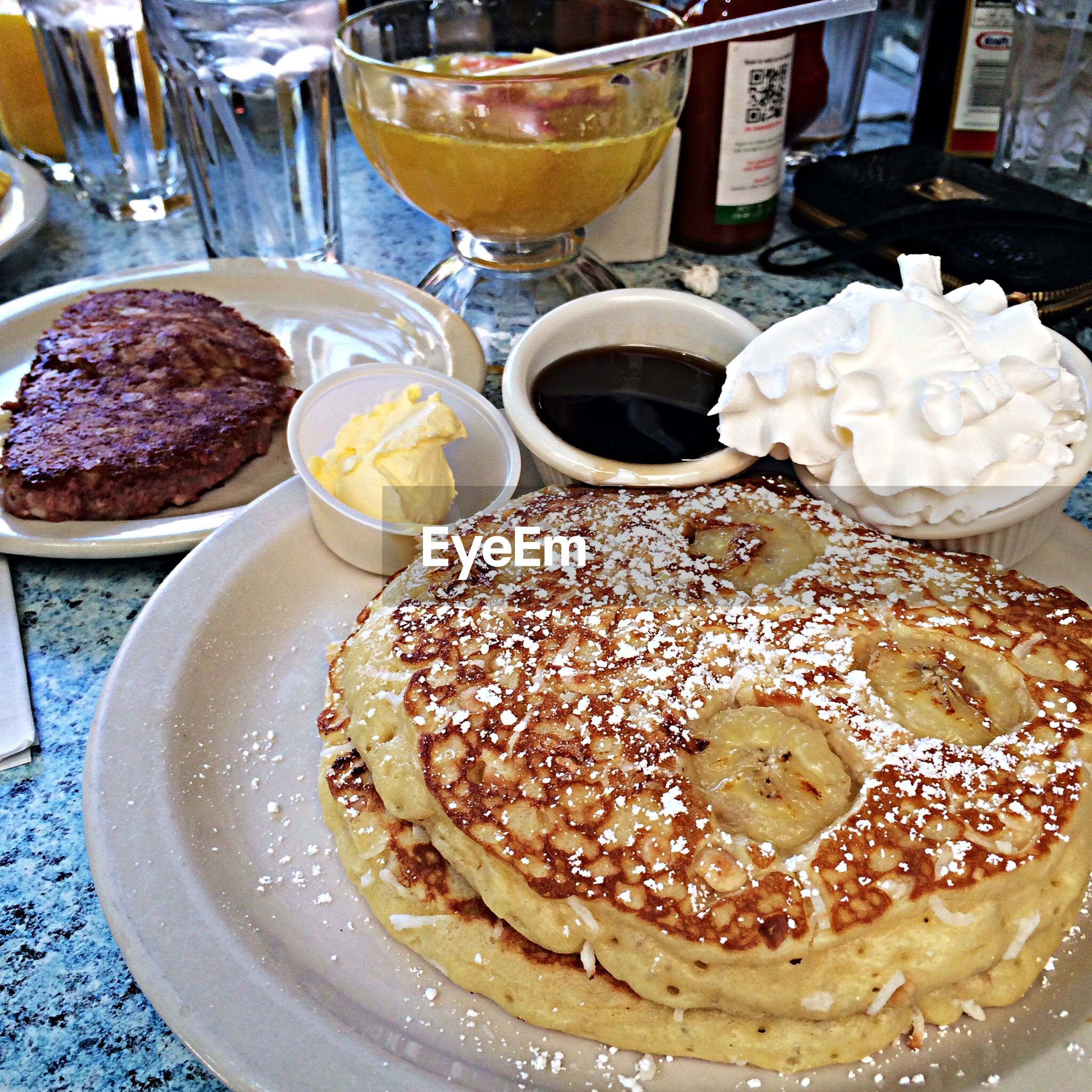 food and drink, food, freshness, indoors, sweet food, ready-to-eat, dessert, indulgence, still life, unhealthy eating, cake, temptation, plate, table, serving size, baked, drink, close-up, high angle view, refreshment