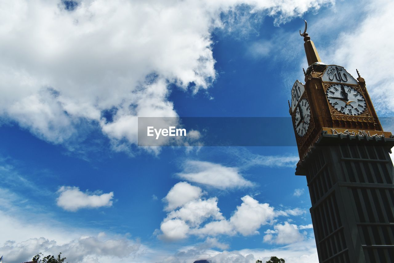 cloud - sky, low angle view, sky, architecture, built structure, building exterior, building, tower, nature, travel destinations, day, clock tower, no people, travel, clock, time, tourism, outdoors, tall - high, belief, spire