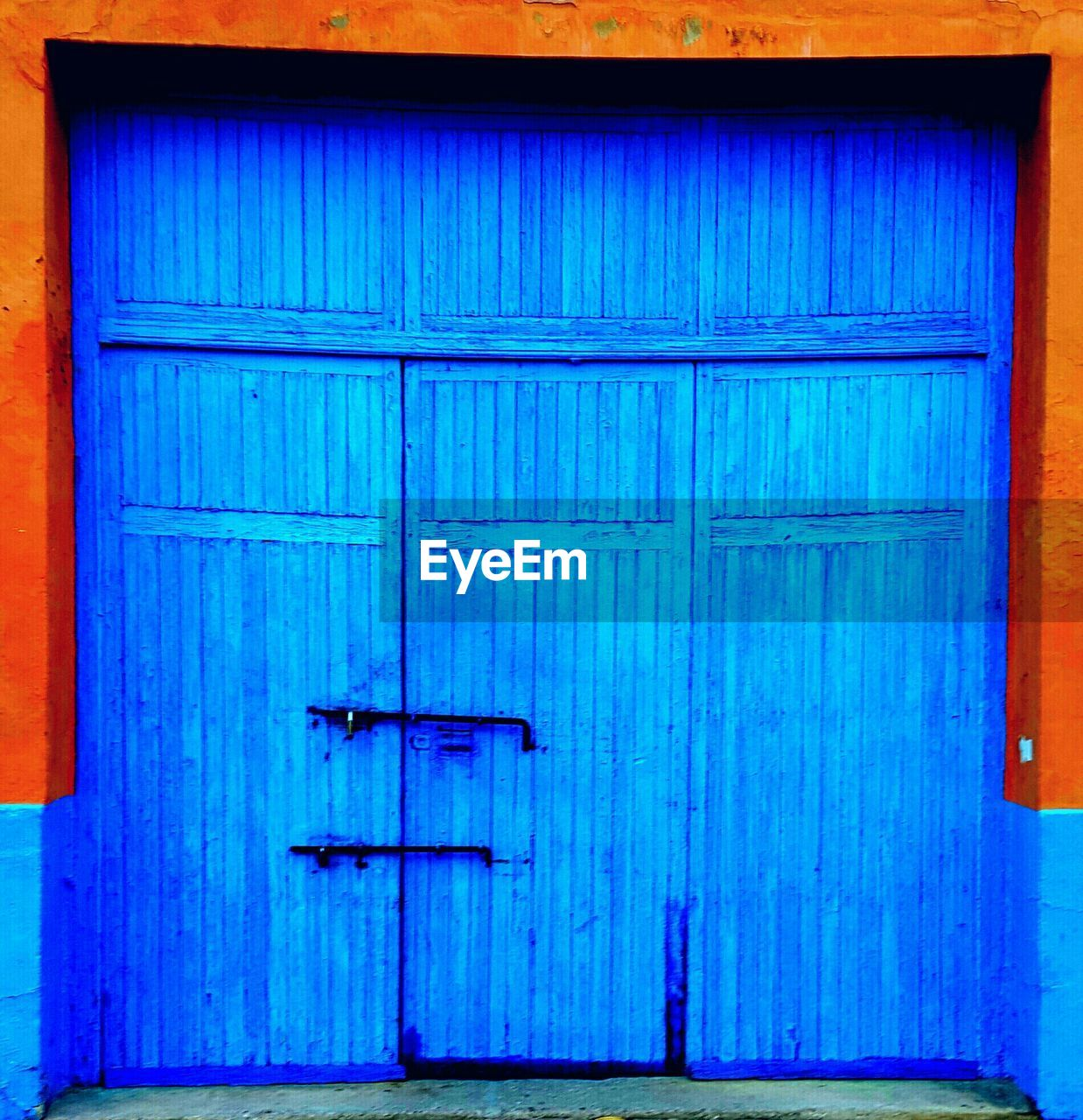 blue, closed, door, wood - material, no people, built structure, full frame, day, architecture, outdoors, close-up