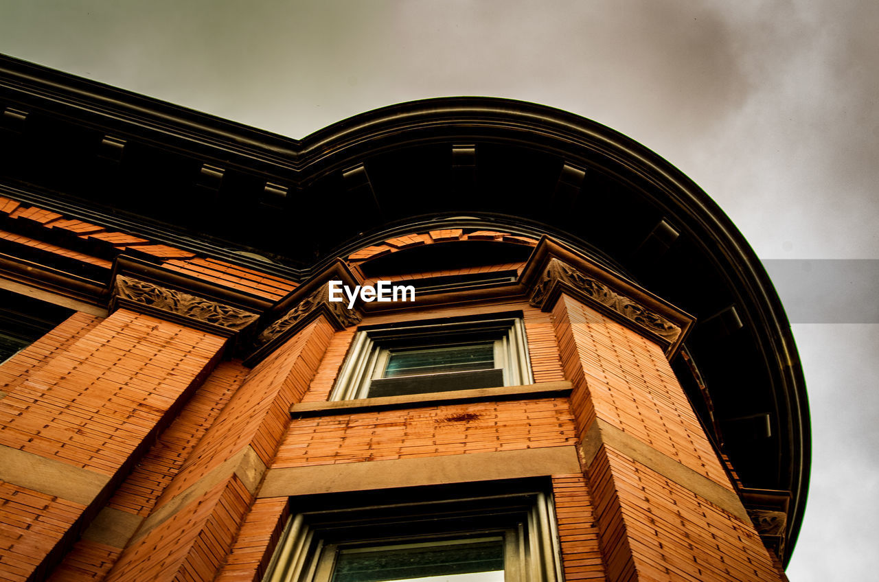 built structure, building exterior, low angle view, architecture, sky, no people, window, building, day, nature, cloud - sky, outdoors, old, residential district, city, the past, wall, history, pattern, arch, ornate