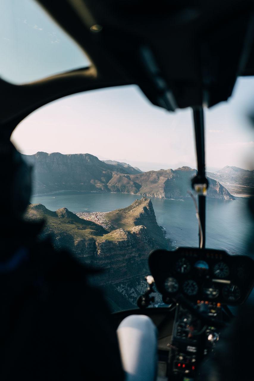 River Seen Through Air Vehicle