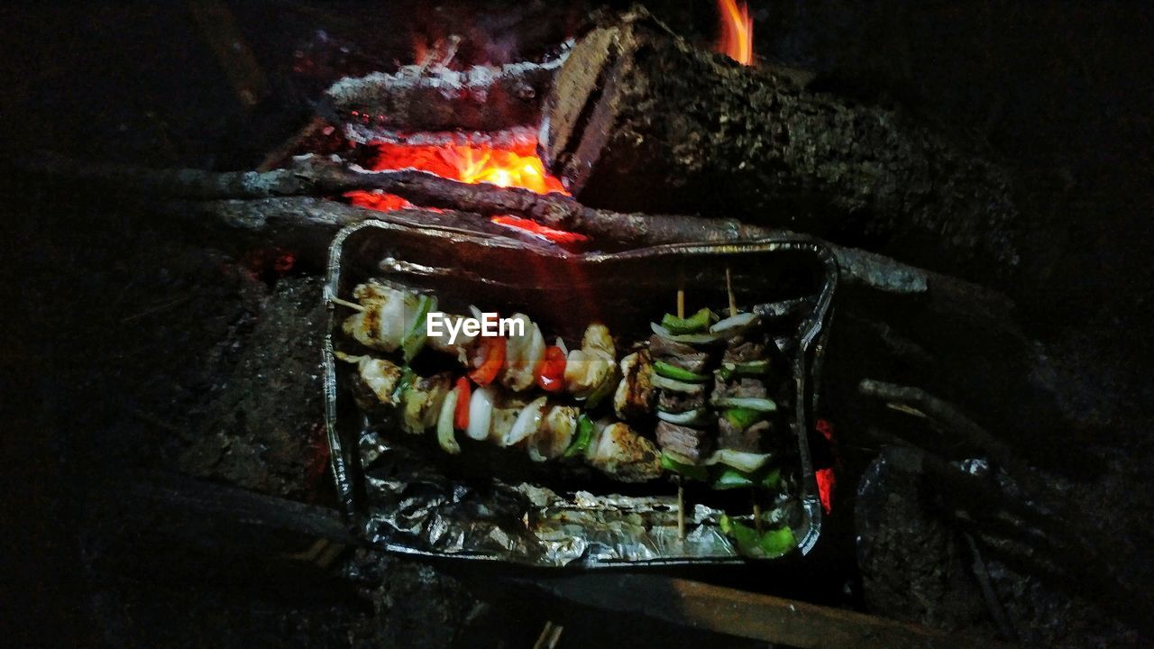 flame, night, food and drink, food, no people, burning, indoors, close-up, freshness