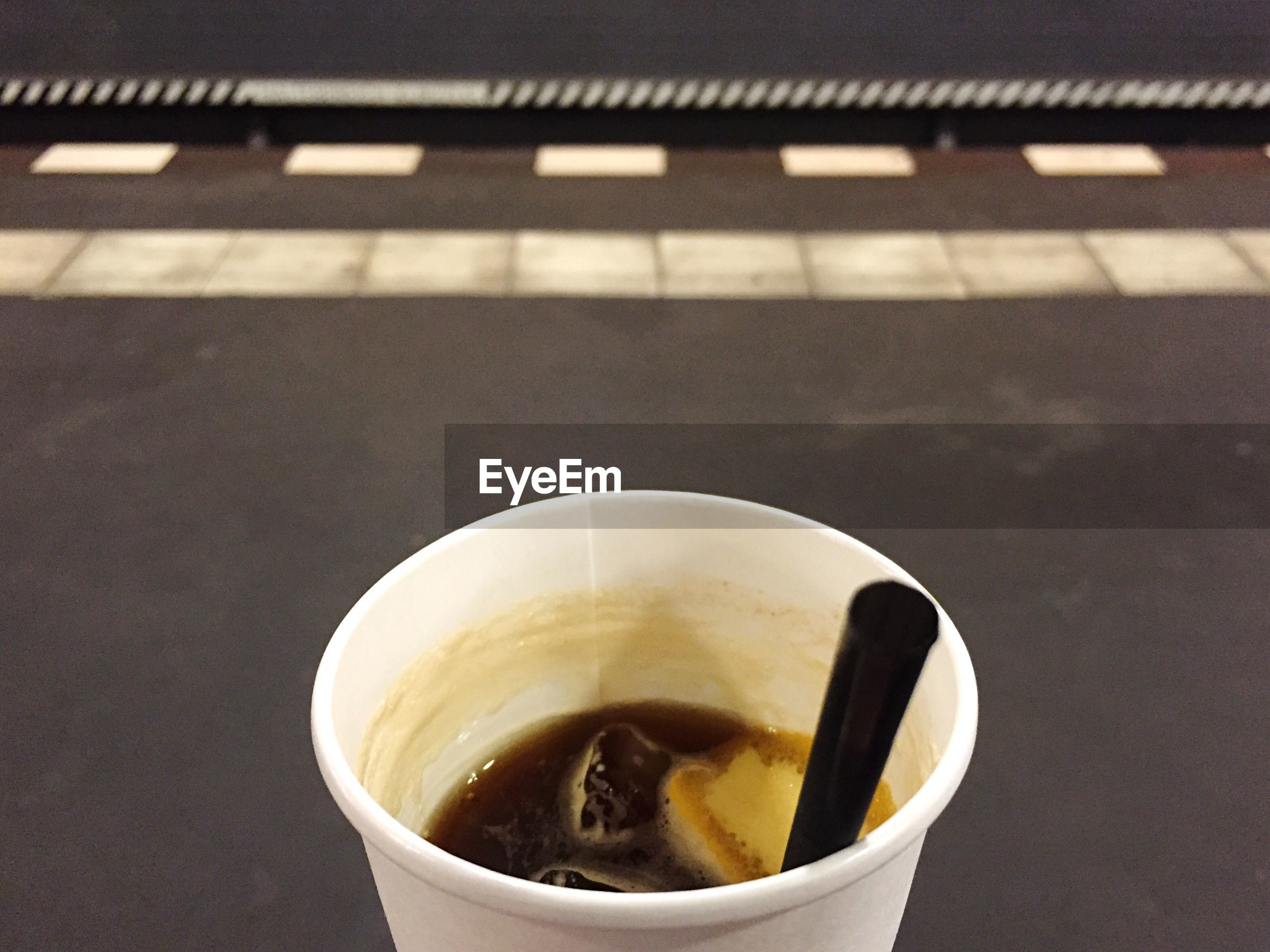 Close-up of iced coffee in cup