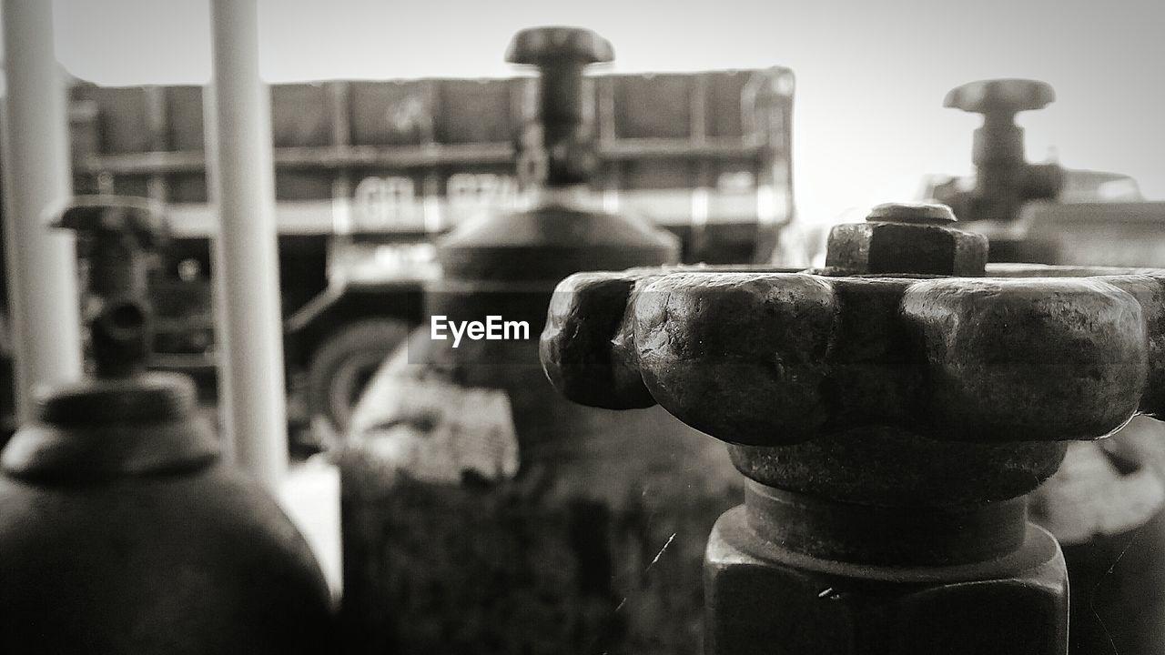 Close-up of oxygen tank