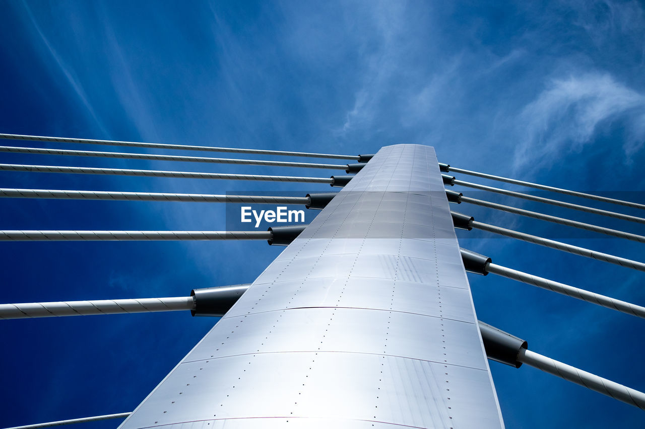 Low Angle View Of Bridge Beams Against Sky
