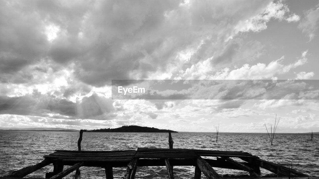 cloud - sky, sky, water, beauty in nature, sea, scenics - nature, tranquil scene, tranquility, nature, no people, day, idyllic, outdoors, non-urban scene, land, beach, horizon, nautical vessel