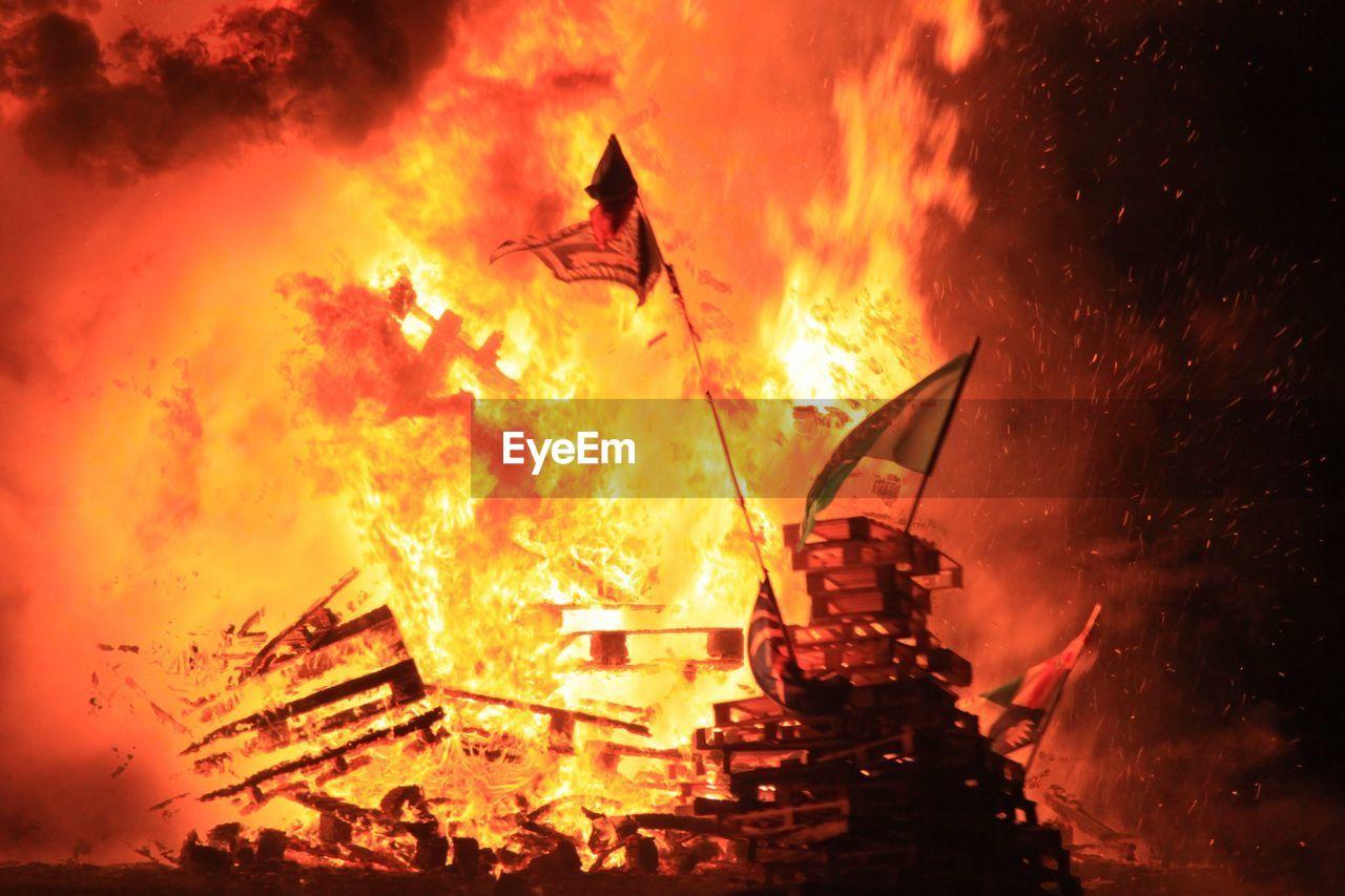 Burn! Burn! Burn it down! Flag Experimental EyeEm   on EyeEm