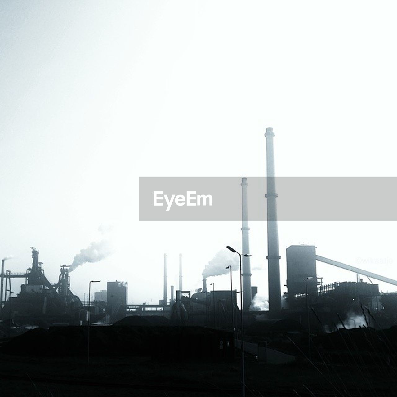 industry, factory, smoke stack, built structure, architecture, building exterior, fuel and power generation, clear sky, sky, day, no people, power station, chimney, fumes, outdoors