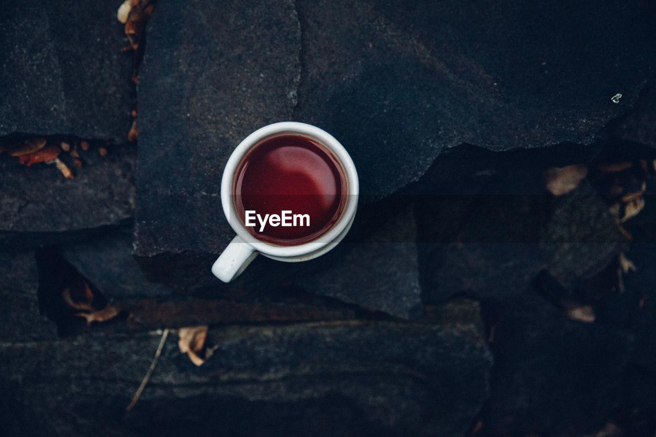 Close-Up Of Mug Of Tea