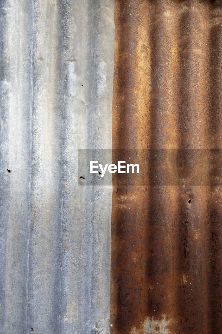 full frame, metal, backgrounds, no people, close-up, pattern, textured, rusty, old, weathered, day, corrugated iron, iron, built structure, damaged, wall - building feature, architecture, decline, outdoors, deterioration, iron - metal, sheet metal, silver colored, corrugated