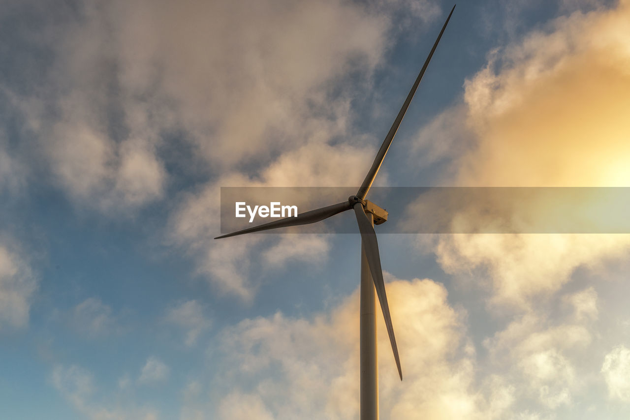 Low Angle View Of Windmill Against Sky