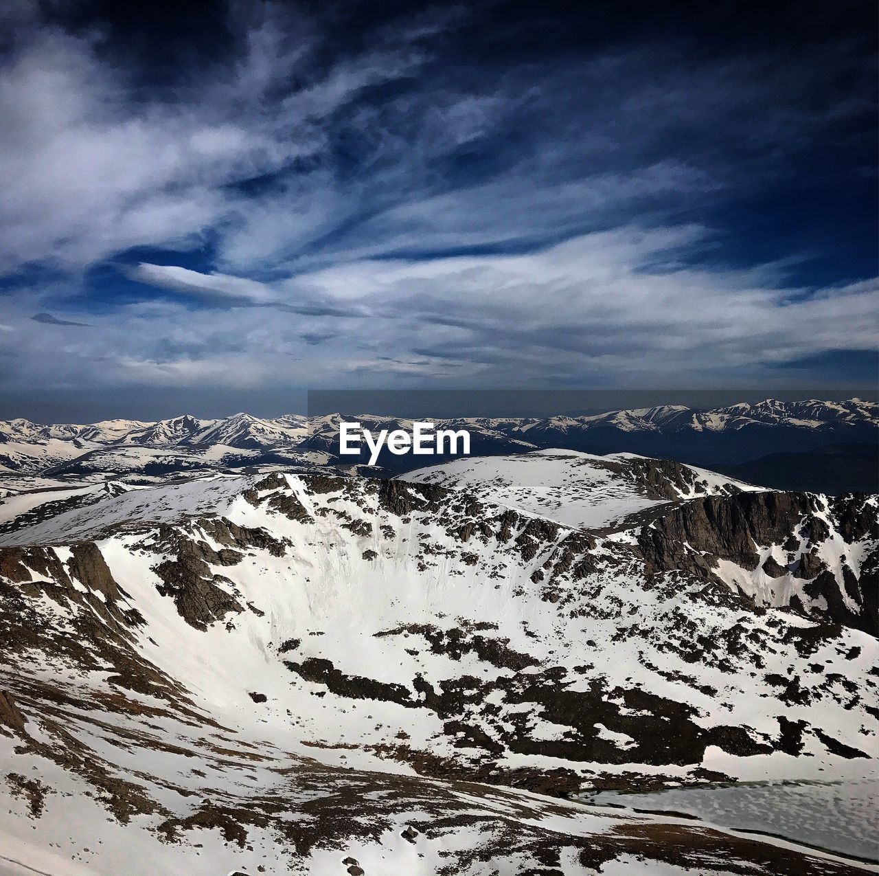 snow, mountain, winter, beauty in nature, cold temperature, nature, scenics, mountain range, snowcapped mountain, tranquil scene, tranquility, weather, landscape, cloud - sky, sky, outdoors, majestic, non-urban scene, physical geography, day, no people, travel destinations, wilderness area