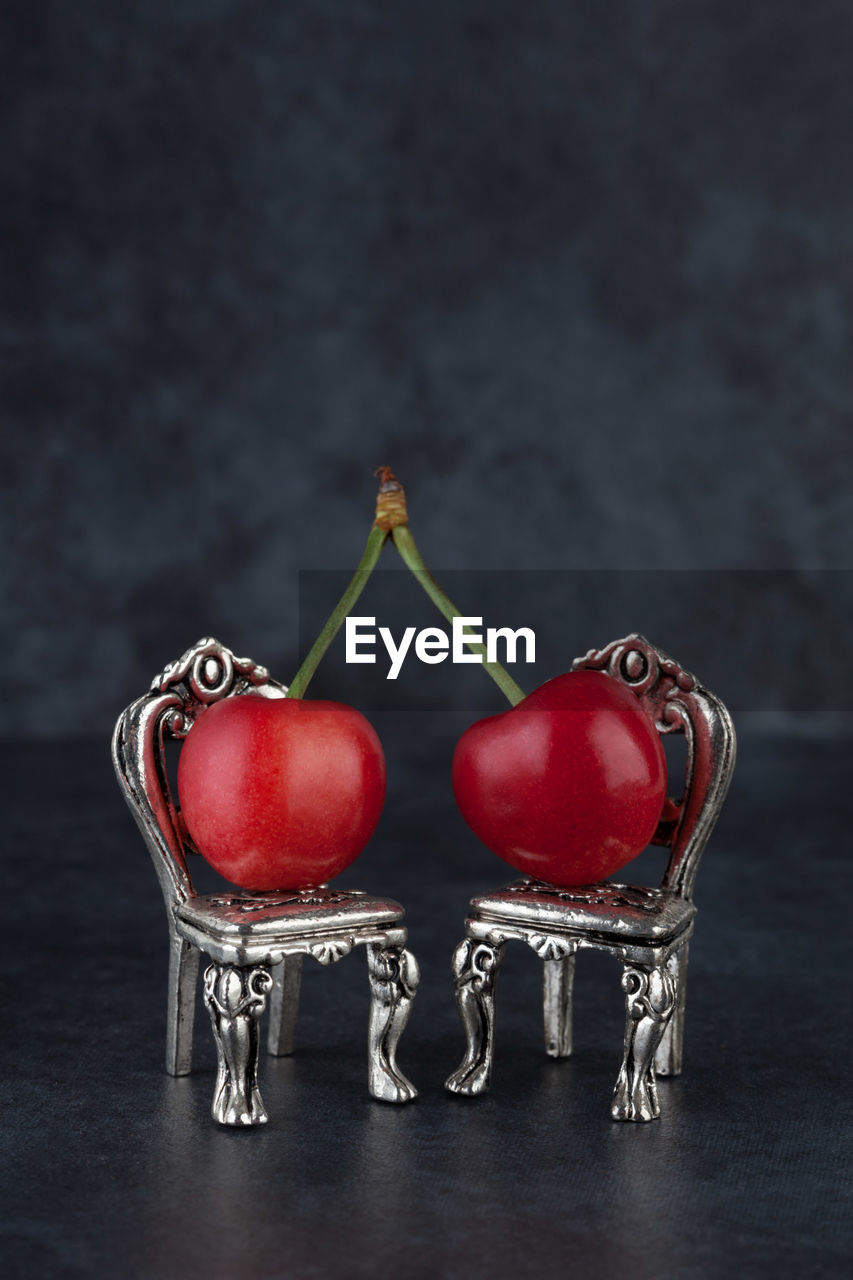 red, food and drink, food, healthy eating, still life, table, black background, no people, vegetable, tomato, freshness, indoors, studio shot, fruit, close-up, ready-to-eat, day