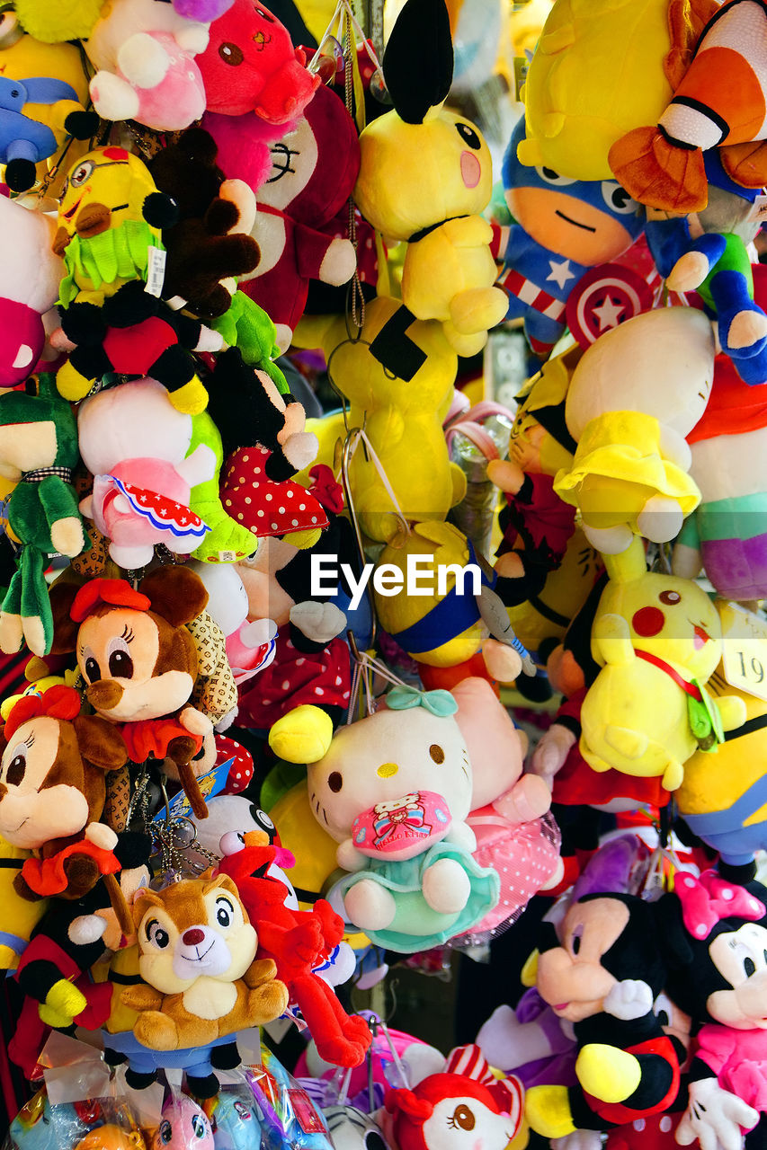 multi colored, toy, variation, large group of objects, abundance, no people, indoors, retail, close-up, full frame, backgrounds, day