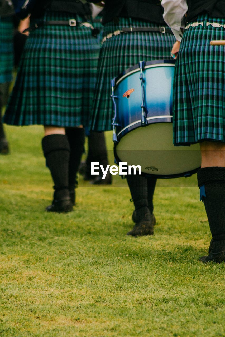 Bagpipers At Pipe Band Contest