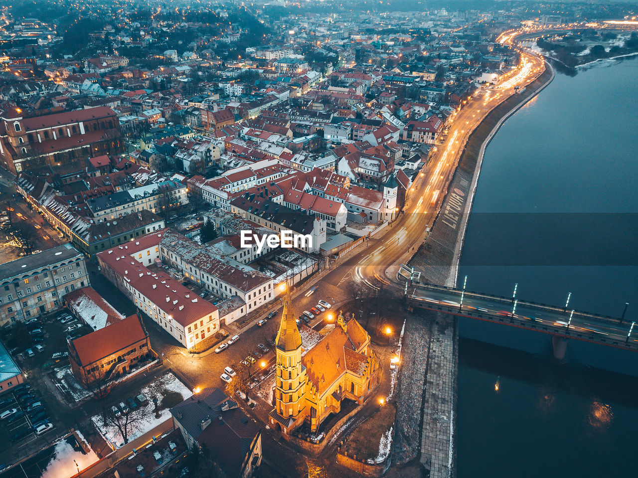 architecture, cityscape, built structure, city, illuminated, connection, building exterior, no people, travel destinations, aerial view, high angle view, outdoors, bridge - man made structure, river, night, chain bridge, water