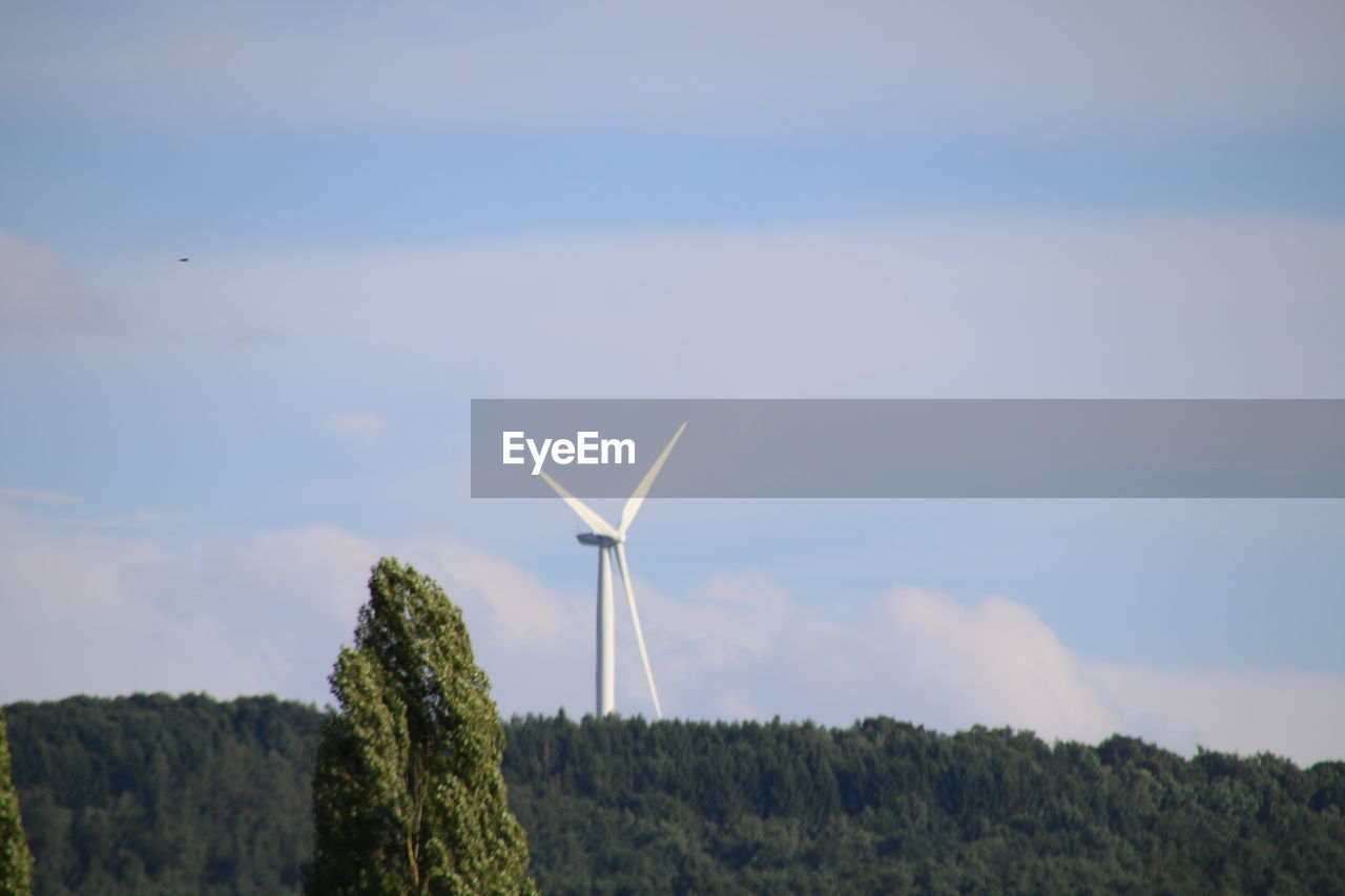 wind turbine, wind power, alternative energy, renewable energy, environmental conservation, windmill, sky, industrial windmill, fuel and power generation, cloud - sky, no people, outdoors, nature, day, tree, beauty in nature, rural scene