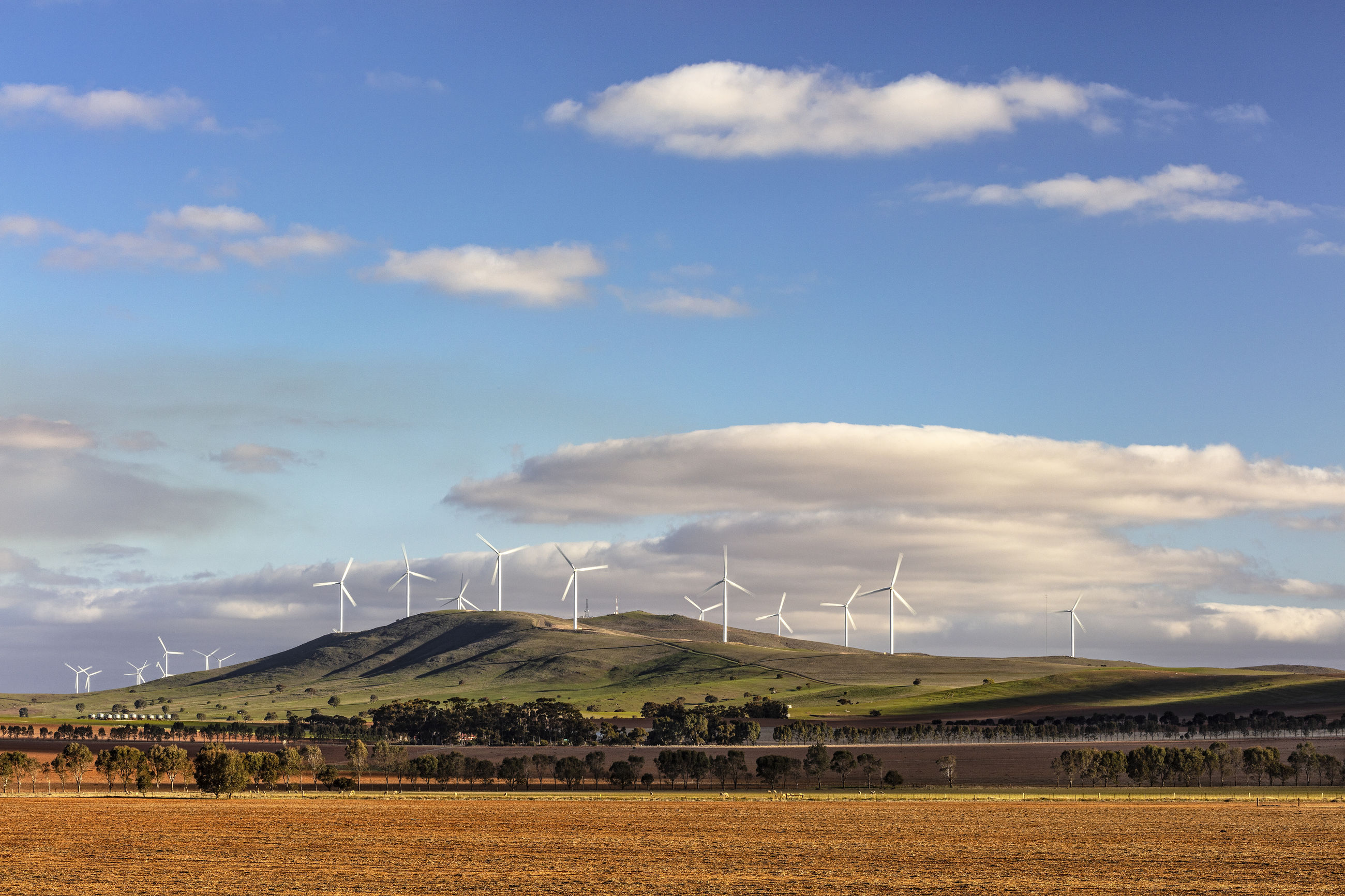 sky, environment, cloud - sky, turbine, wind turbine, landscape, renewable energy, fuel and power generation, land, alternative energy, wind power, environmental conservation, scenics - nature, beauty in nature, field, nature, day, rural scene, tranquility, tranquil scene, no people, outdoors, sustainable resources, power supply