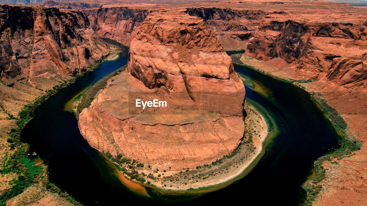 Scenic view of horseshoe bend