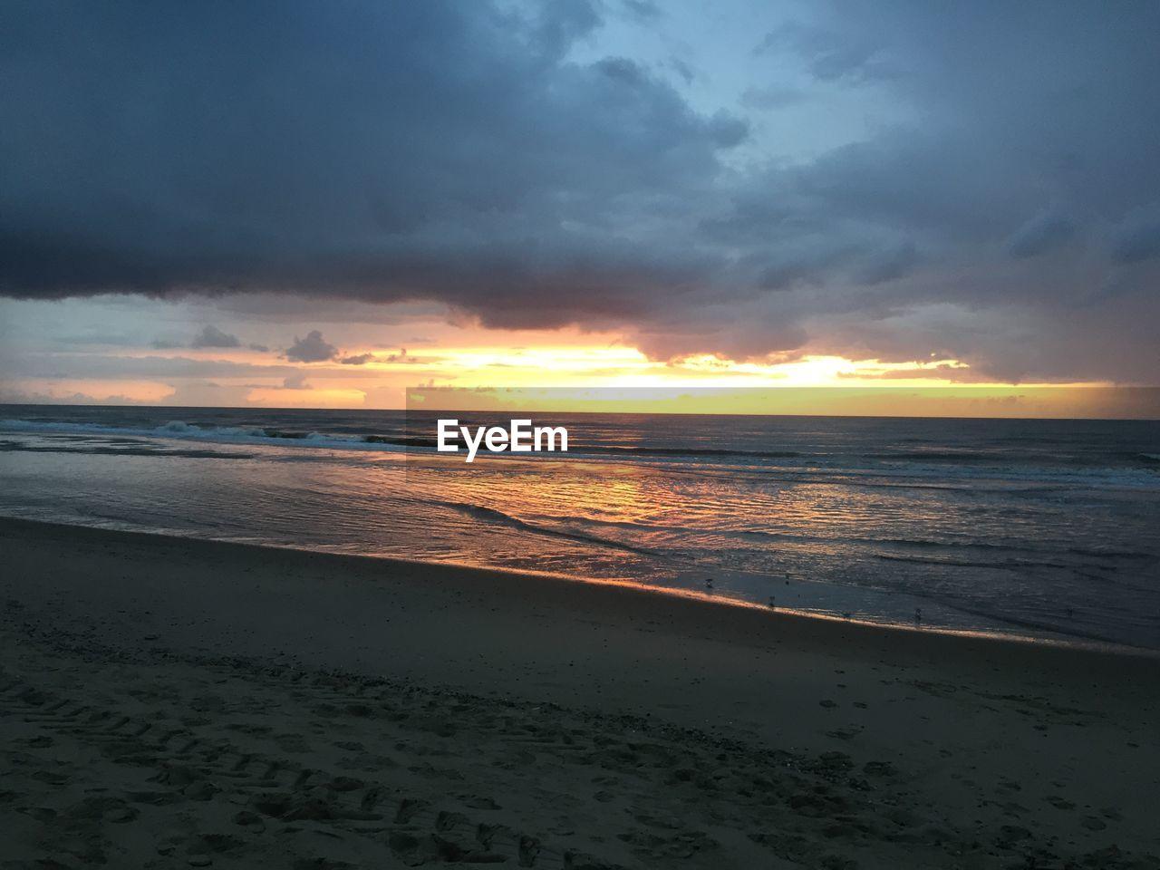 sea, sky, beach, land, water, sunset, beauty in nature, horizon, horizon over water, cloud - sky, scenics - nature, sand, tranquility, tranquil scene, nature, idyllic, no people, non-urban scene, outdoors
