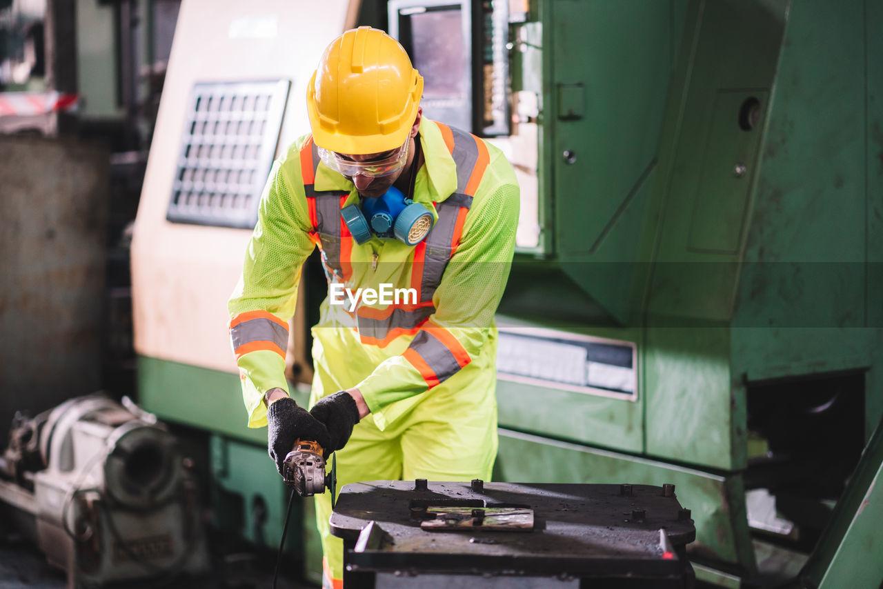 Engineer working at workshop