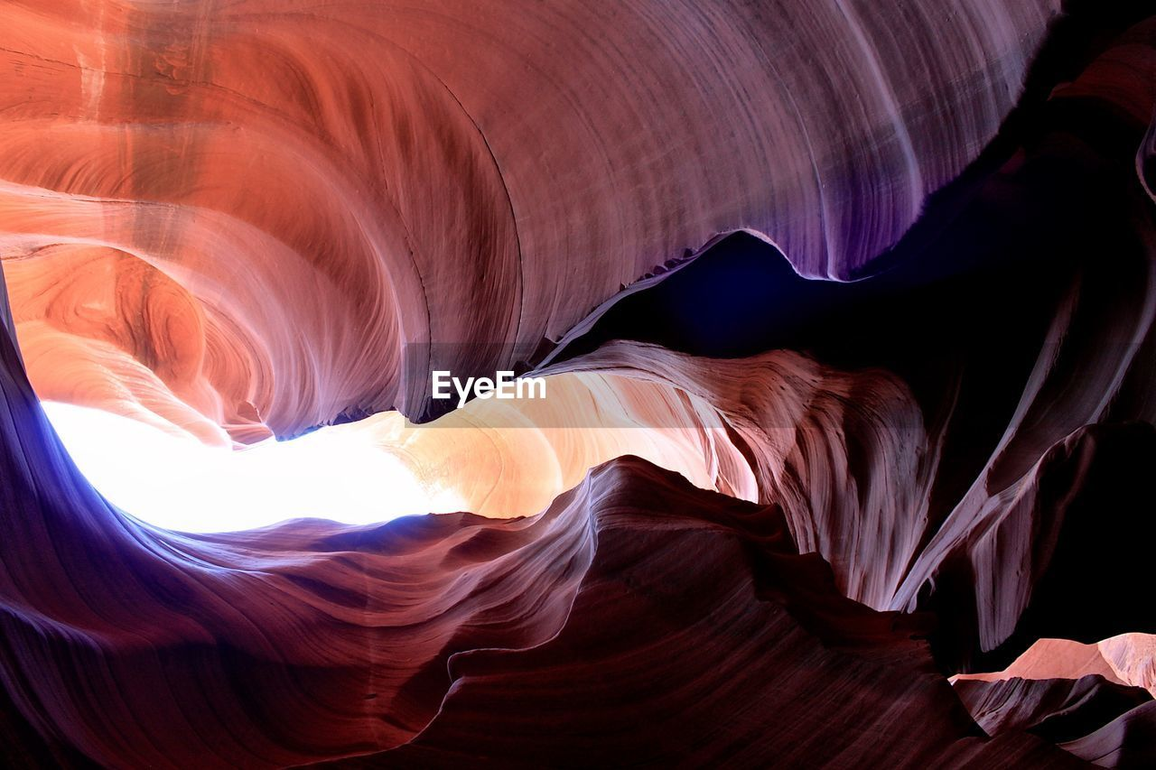 Directly Below Shot Of Antelope Canyon