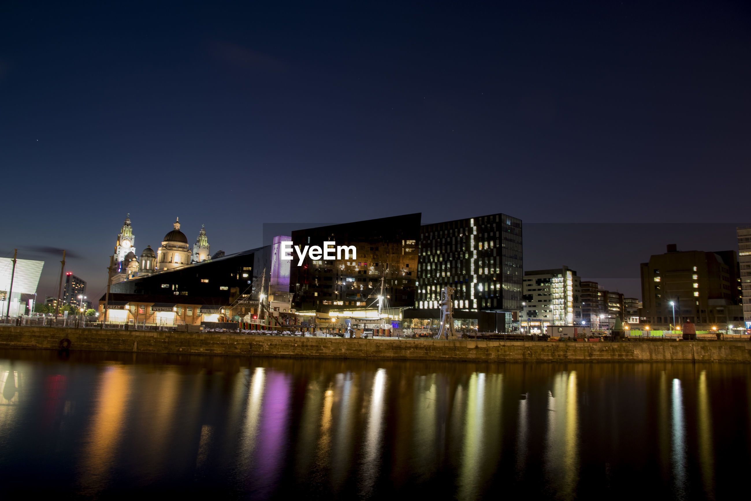 Skyline liverpool from albert dock