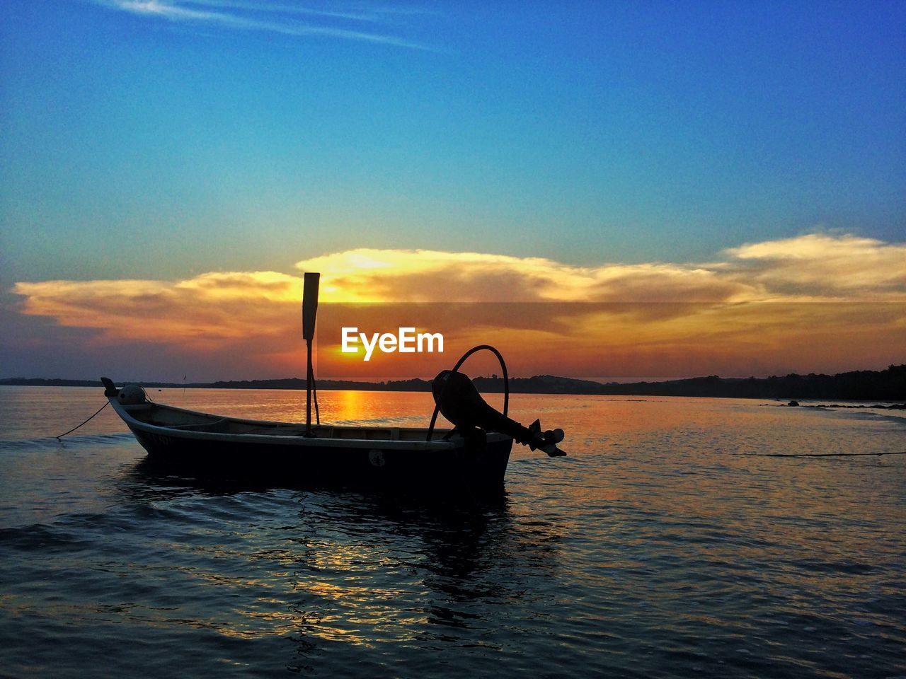 sky, nautical vessel, sunset, mode of transportation, water, transportation, sea, beauty in nature, cloud - sky, scenics - nature, orange color, waterfront, silhouette, nature, tranquility, tranquil scene, idyllic, travel, outdoors