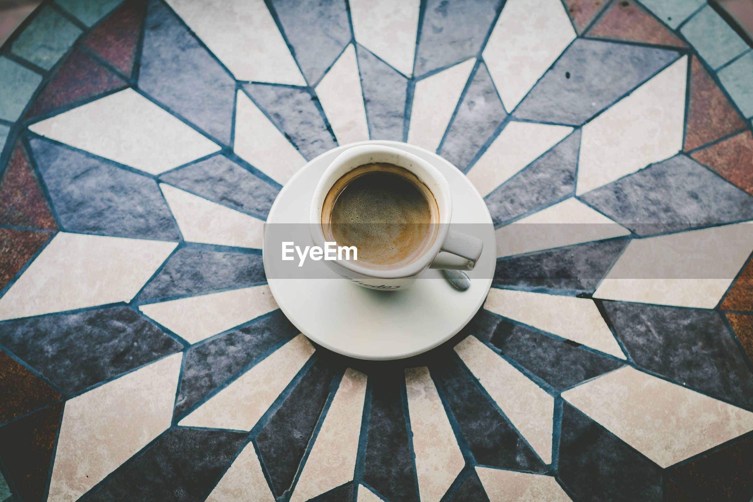 drink, coffee cup, coffee - drink, refreshment, food and drink, high angle view, cup, saucer, table, no people, indoors, freshness, day, close-up