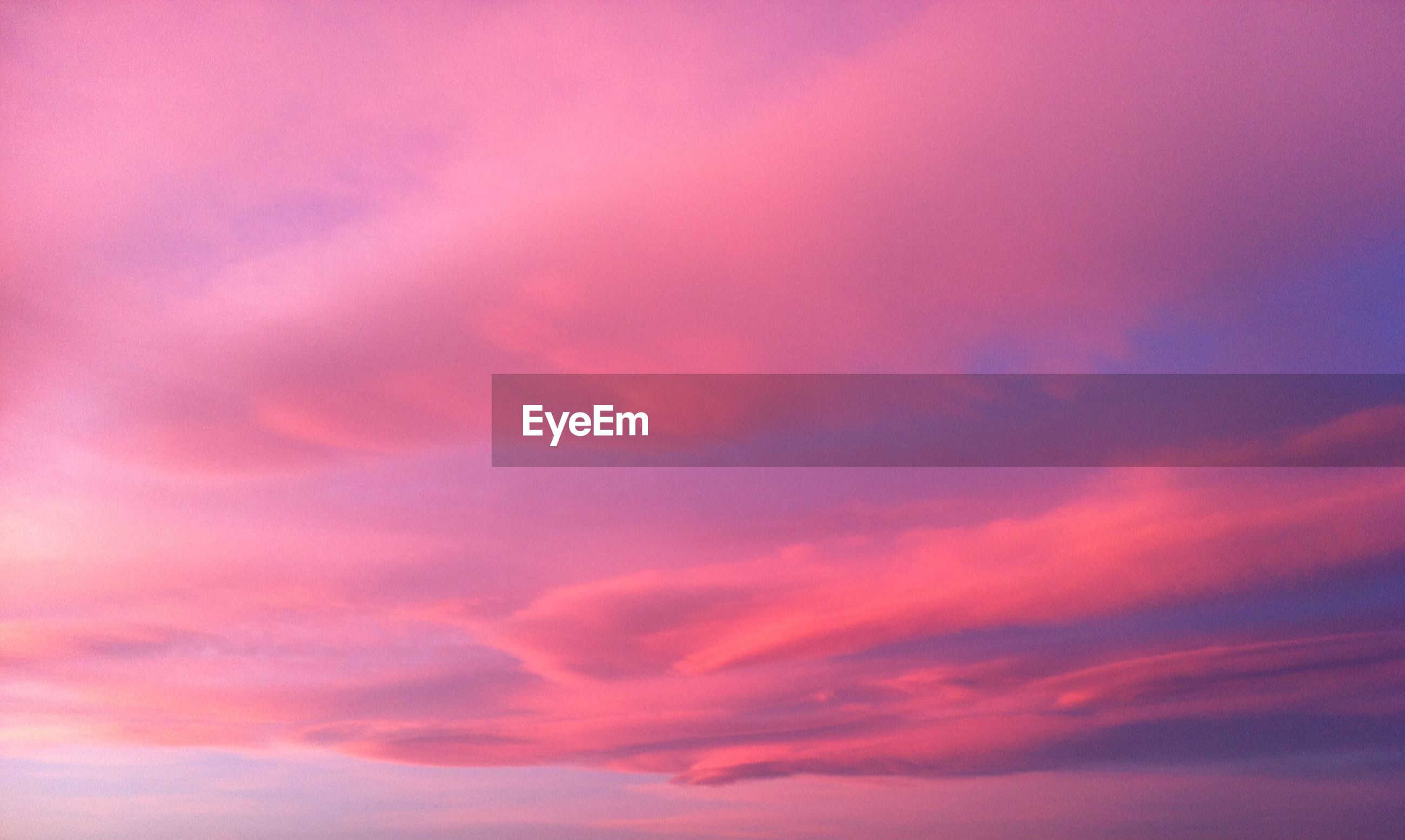 Scenic view of cloudy sky during sunset