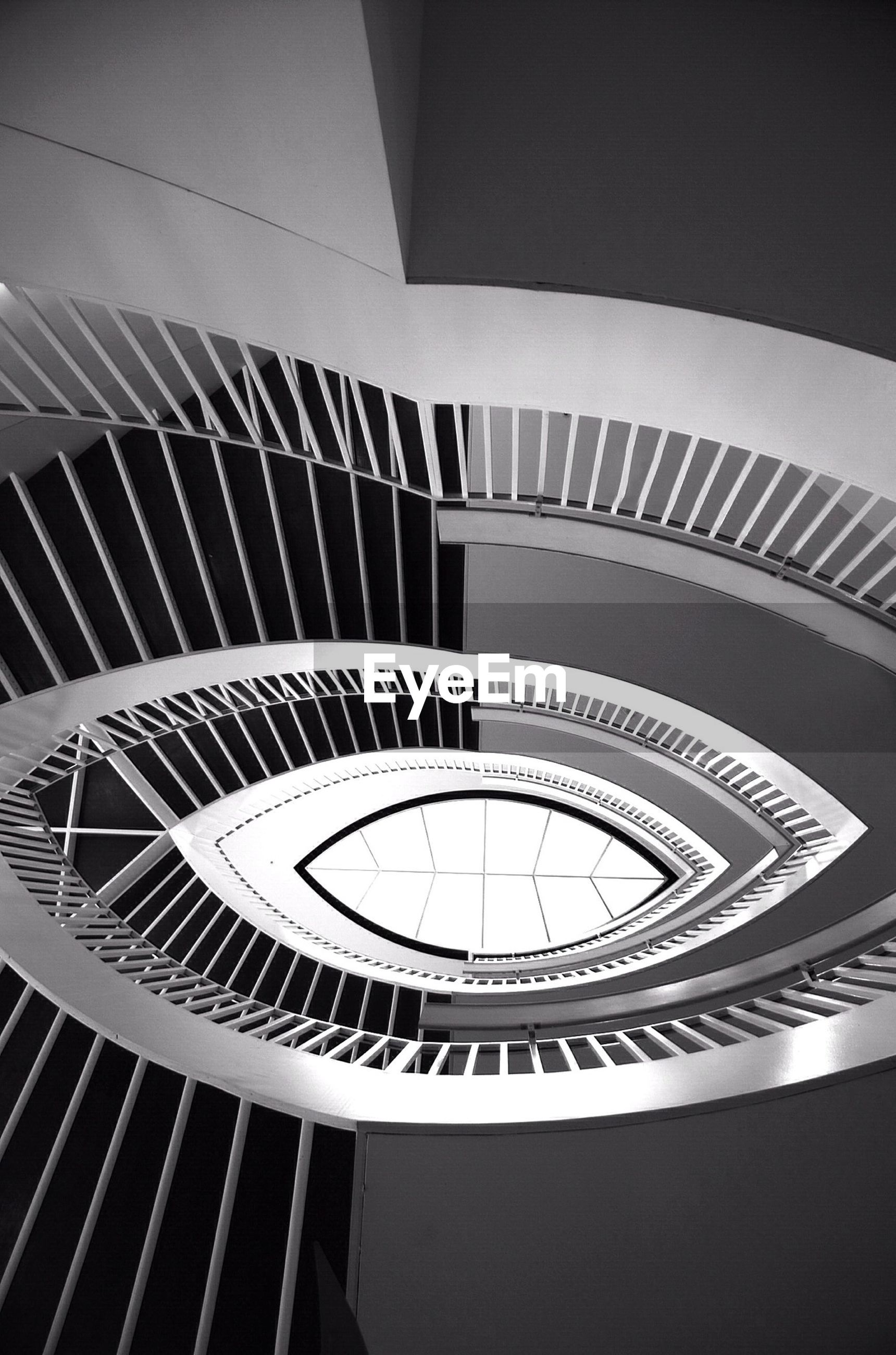 High angle view of eye shaped staircase