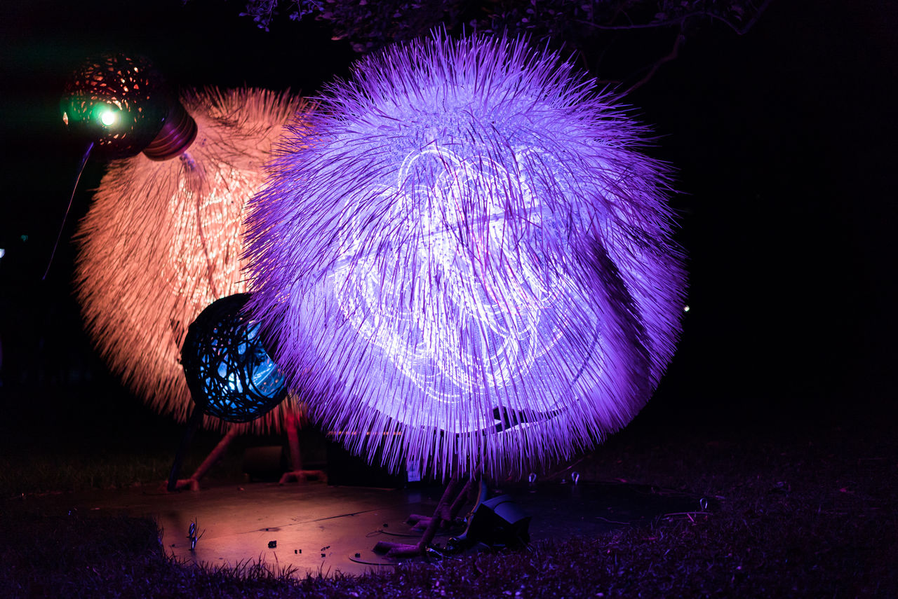 night, illuminated, arts culture and entertainment, celebration, lighting equipment, long exposure, firework display, firework - man made object, firework, no people, indoors, wire wool