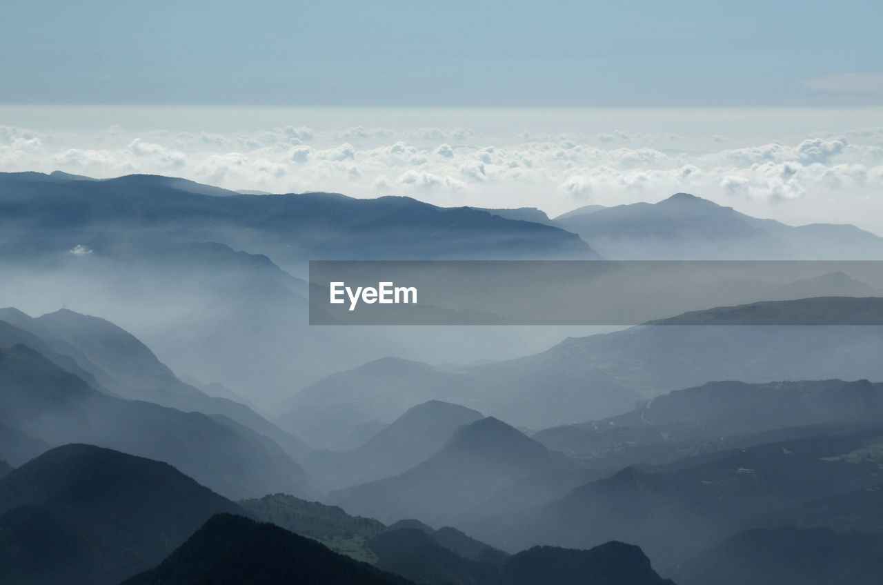 Scenic Shot Of Silhouette Mountain Ranges