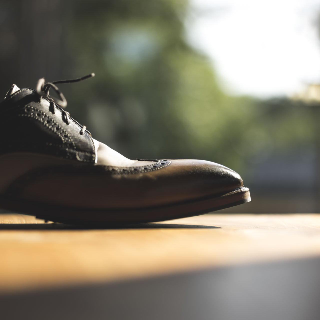 Close-Up Of Shoe On Floor