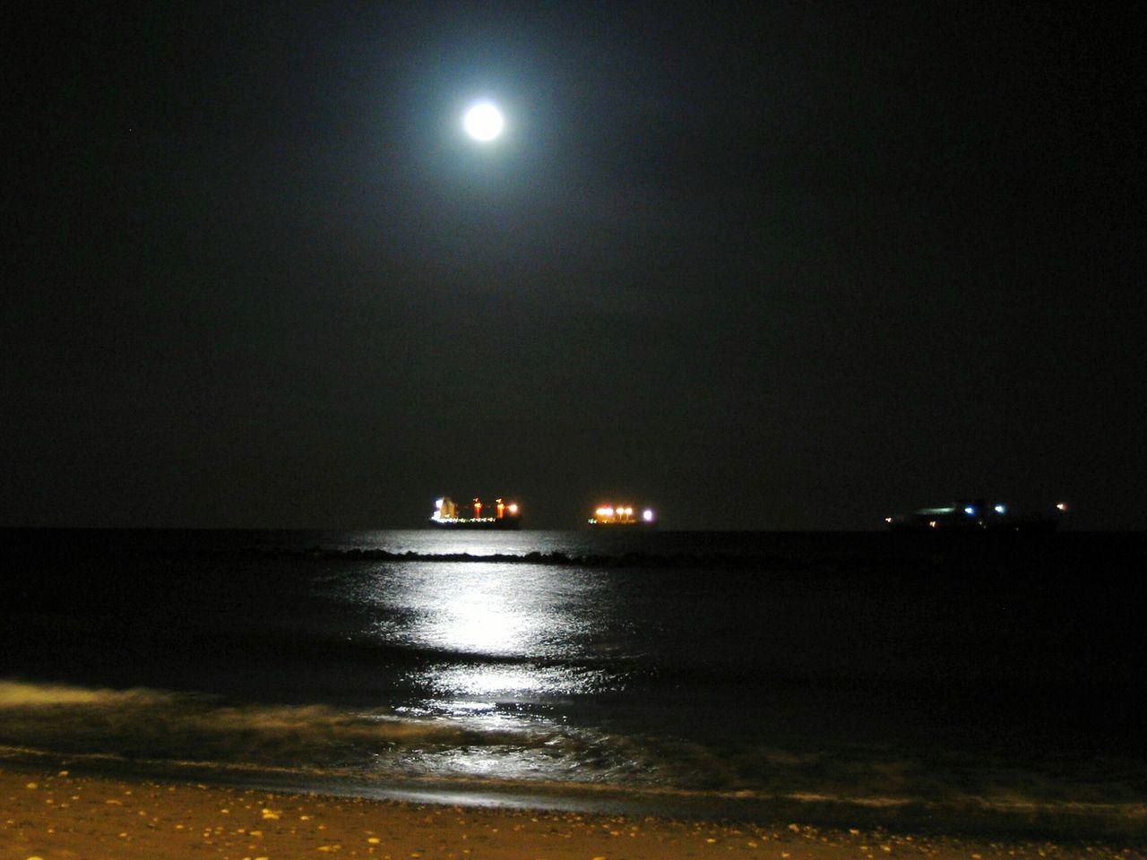 night, illuminated, moon, no people, sea, nature, sky, outdoors, beauty in nature, water, scenics, nautical vessel