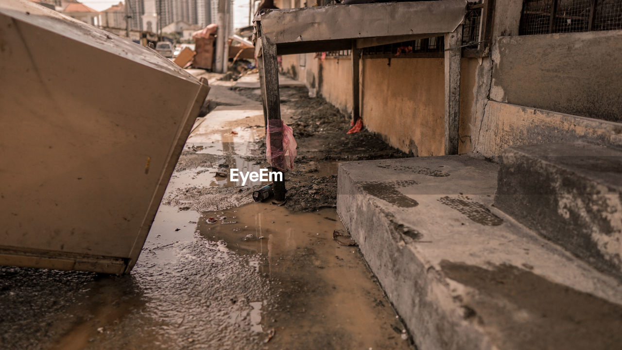 Aftermath of flood